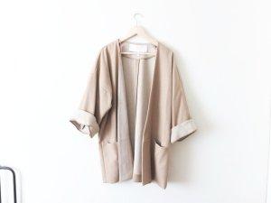 Mango Premium Gr. L 40 42 Kimono Jacke beige nude oversized trend