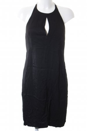 Mango Premium Neckholderkleid schwarz-silberfarben Casual-Look