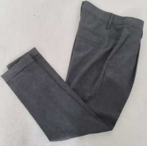 Mango Premium Woolen Trousers anthracite new wool