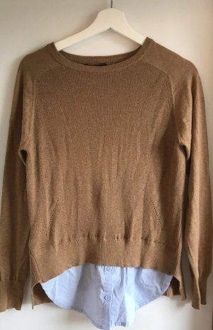 Mango Pulli: vorne mit Hemdeinsatz