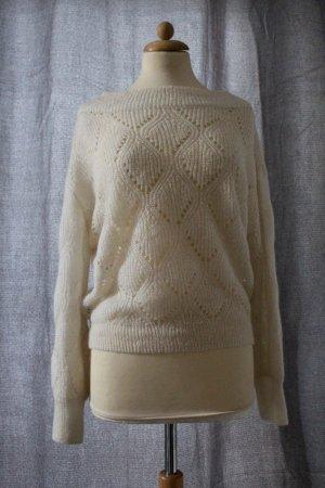 Mango Maglione lavorato a maglia bianco sporco Tessuto misto