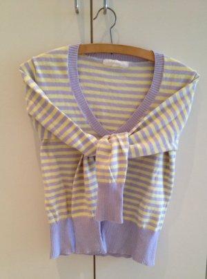 Mango Pullover in lila-gelb gestreift