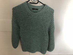 Mango Crochet Sweater multicolored