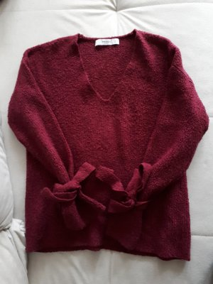 Mango V-Neck Sweater purple polyamide