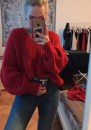 Mango Gebreide trui rood