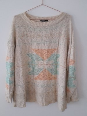 MANGO Pullover Pastell M/L Grobstrick oversize Navajo blogger Style