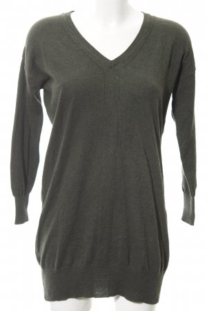 Mango Sweater Dress green grey casual look