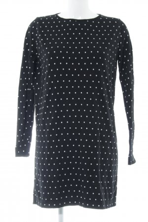 Mango Sweater Dress black-white spot pattern casual look