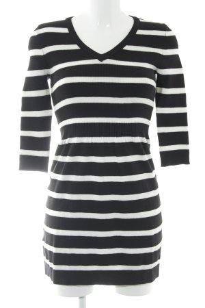 Mango Abito maglione nero-bianco motivo a righe stile casual