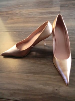 MANGO Pumps * NEU * Gr. 39 * rosé metallic