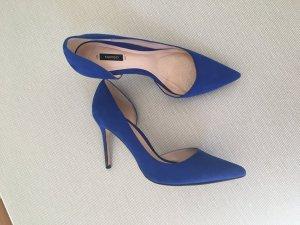 Mango Pumps spitz blau