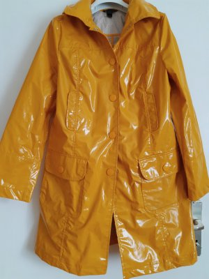 Mango Heavy Raincoat gold orange-dark yellow textile fiber