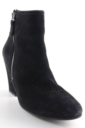Mango Reißverschluss-Stiefeletten schwarz-silberfarben Casual-Look