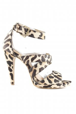 Mango Strapped Sandals animal pattern '90s style