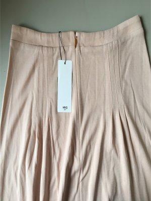 Mango Suit Plaid Skirt pink