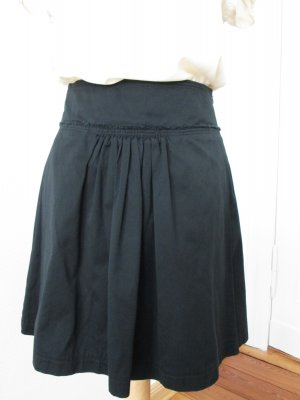 Mango Jupe à plis noir coton