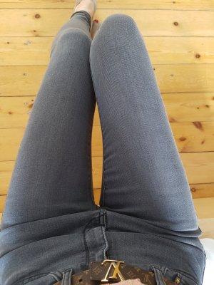 Mango Röhrenjeans XXS XS 32 34 grau high waist Röhre Jeans Hose Skinny Leggings