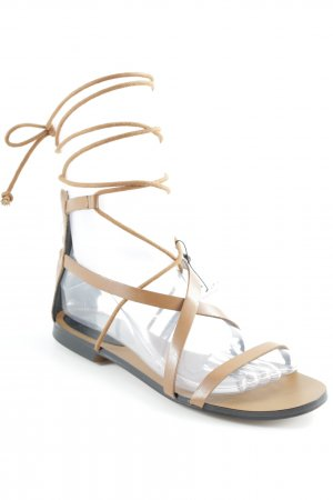 Mango Roman Sandals brown beach look