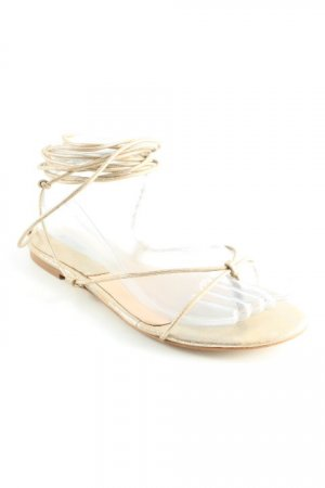 Mango Roman Sandals gold-colored casual look