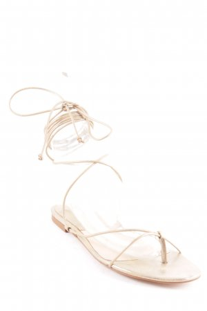 Mango Römer-Sandalen goldfarben Metallic-Optik