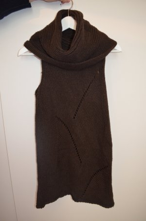 Mango Long Cardigan black brown wool