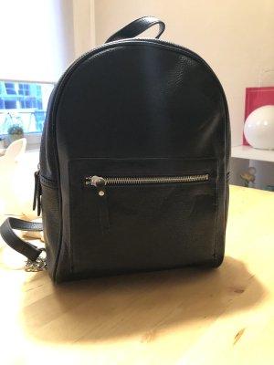 Mango Mini sac à dos noir-argenté