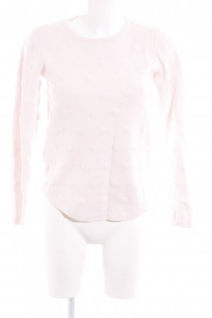 Mango Rundhalspullover rosa Punktemuster Casual-Look