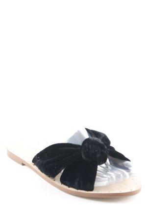 Mango Sabots nude-black elegant
