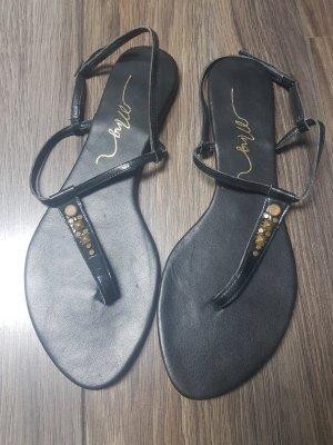 Mango High-Heeled Toe-Post Sandals black
