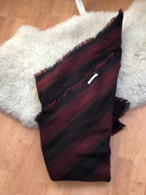 MANGO Schal in rot/ schwarz