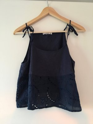 Mango casual Spaghetti Strap Top dark blue-blue