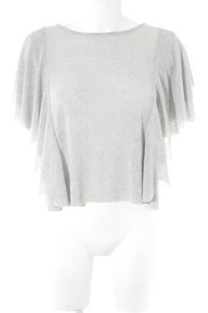 Mango Schlupf-Bluse hellgrau schlichter Stil