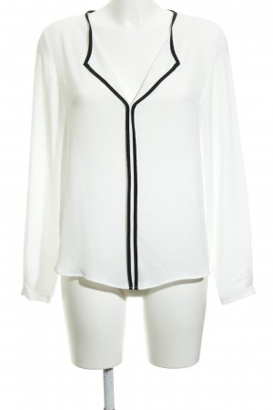 Mango Slip-over Blouse white-black casual look