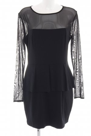 Mango Peplum Dress black elegant