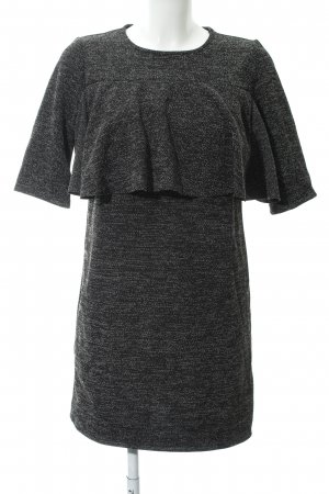 Mango Peplum jurk gestippeld zakelijke stijl