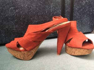 MANGO Schuhe Gr.39 Orange