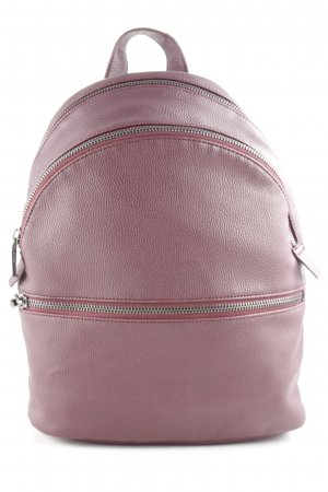 Mango School Backpack blackberry-red decorative zipper