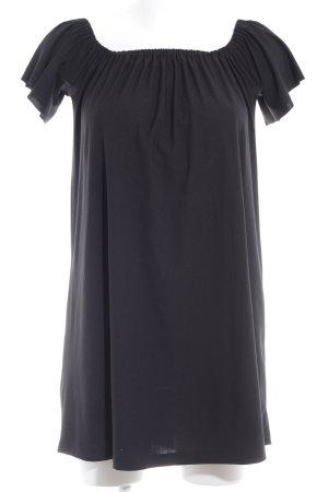 Mango schulterfreies Kleid schwarz Elegant