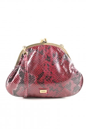 Mango Schultertasche rot Animalmuster Casual-Look