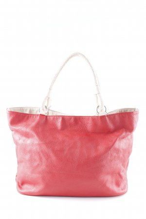 Mango Schultertasche rot-creme Casual-Look