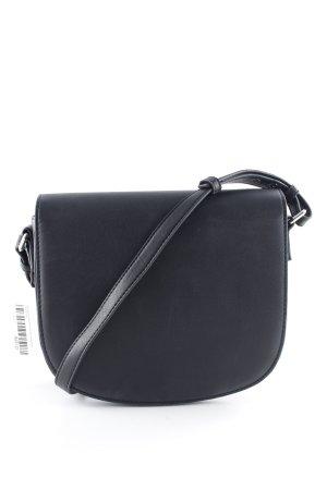 Mango Schultertasche schwarz-dunkelblau Casual-Look