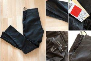 MANGO - schwarze Echtleder Hose (XS)