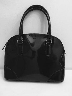 Mango - schwarze Tasche Lack, mittlere Größe