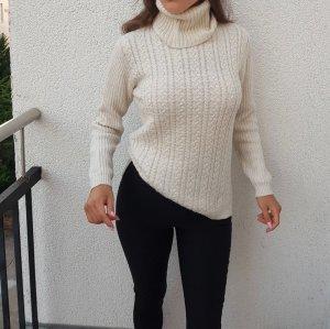Mango sehr warmer Pullover Größe S Oberteil Wolle Weiß