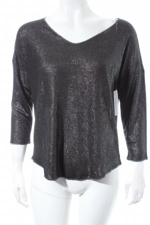 Mango Shirt anthrazit Glitzer-Optik