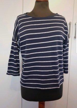 Mango Shirt Basic M blau weiß Basic