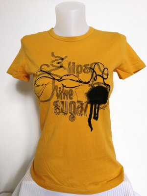 Mango Shirt mit Print (Gr. S)