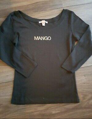 Mango Boothalsshirt zwart