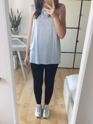 MANGO Shirt Top Tanktop oversized grau meliert Gr. M Sport Fitness Yoga Pilates