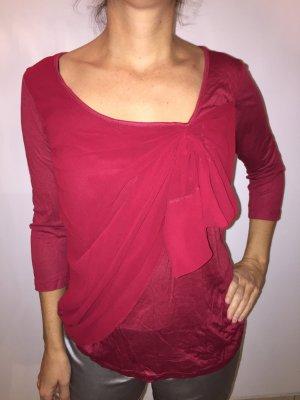 Mango Shirt Tunic dark red cotton